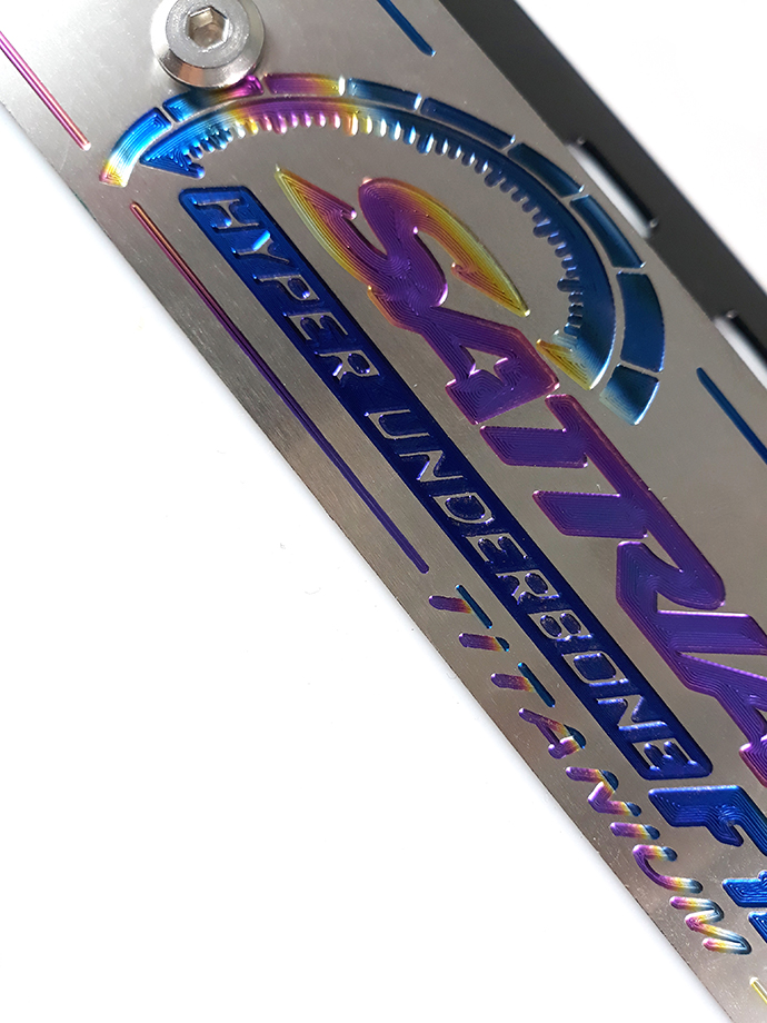 Full Bộ Bảng Tên Satria Titan Kèm Part Gắn Và Ốc Inox Thái MS1346