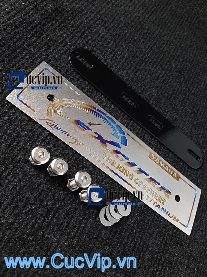 Full Bộ Bảng Tên Exciter Nhôm Titan Kèm Pat Gắn Và Ốc Inox Thái MS1591