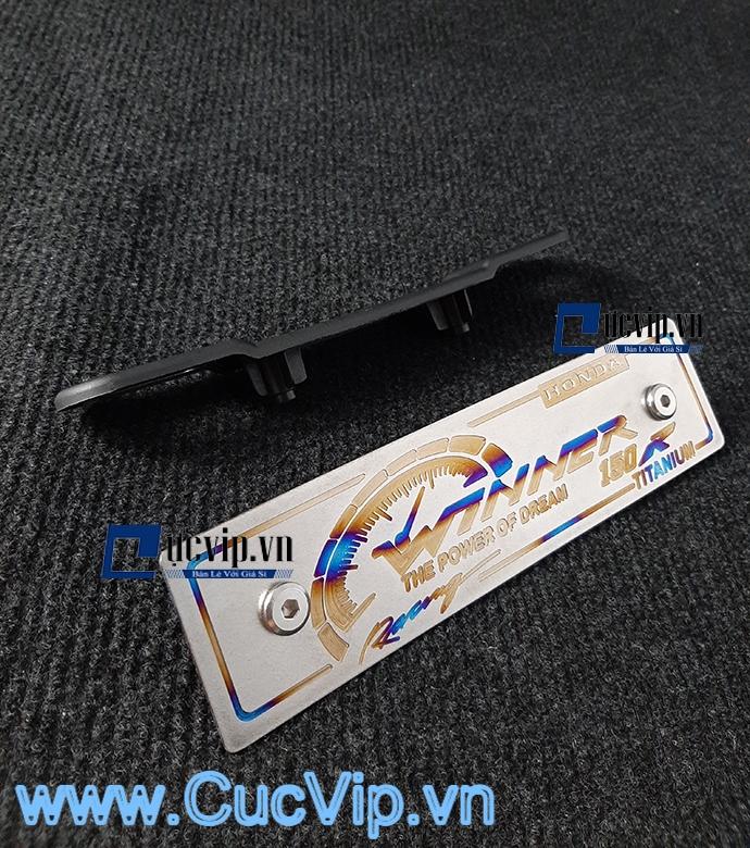 Full Bộ Bảng Tên Winner Nhôm Titan Kèm Pat Gắn Và Ốc Inox Thái MS1592