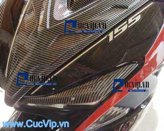 Viền Đèn Carbon Cho Xe NVX MS1612