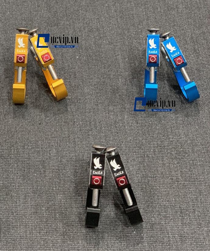 Bộ 2 Móc Treo Đồ Xe Máy Nhôm Màu Có Nút Bấm MS1747