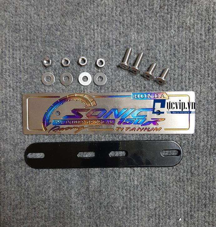 Bảng Tên Sonic Nhôm Titan VIP Tặng Kèm Ốc Inox Thái MS1766