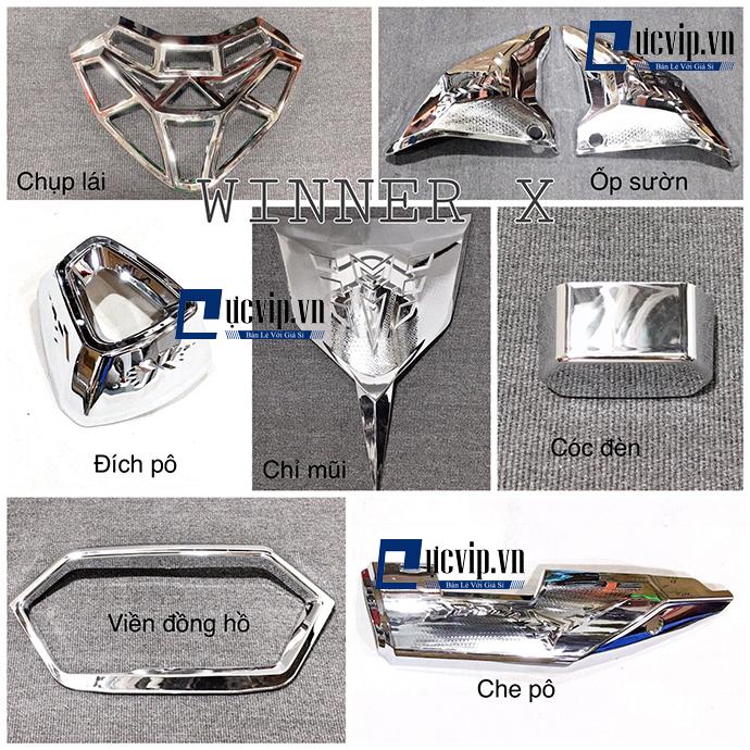 Bộ 7 món Xi Inox Gắn Xe Winner X MS1793