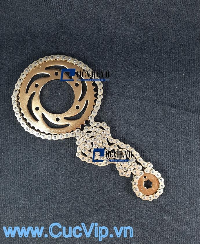 Bộ Nhông Sên Dĩa Full Vàng Cho Xe Sirius MS1879