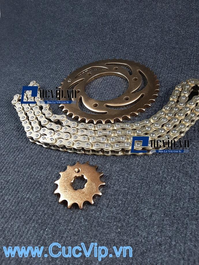 Bộ Nhông Sên Dĩa Full Vàng Cho Xe Winner MS1880