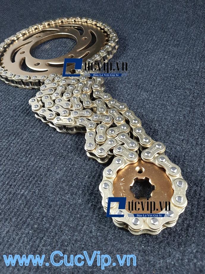 Bộ Nhông Sên Dĩa Full Vàng Cho Xe Dream MS1882