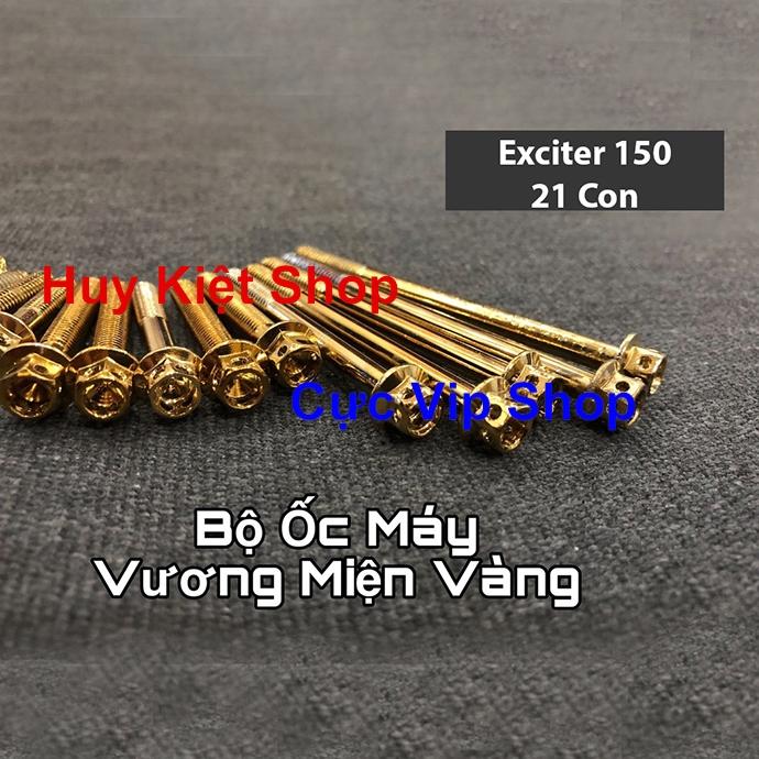 Bộ Ốc Máy Vương Miện Vàng Cho Xe Exciter 150 MS2157