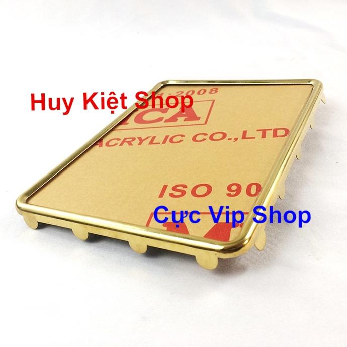 Bộ Khung Biển Số Xi Vàng, Inox Siêu Dày MS2255