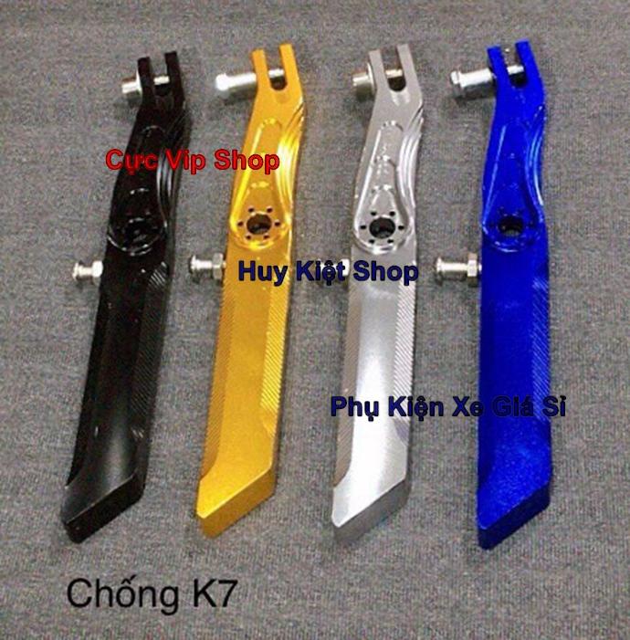 Chân Chống Nghiêng K7 Nhôm CNC Cho Mọi Loại Xe Exciter Winner Raider Satria Sonic AB Vario MS2352