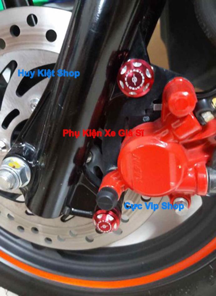Bộ 2 Nắp Chụp Ốc Heo Dầu Cho Xe Yamaha Nhôm CNC MS2421