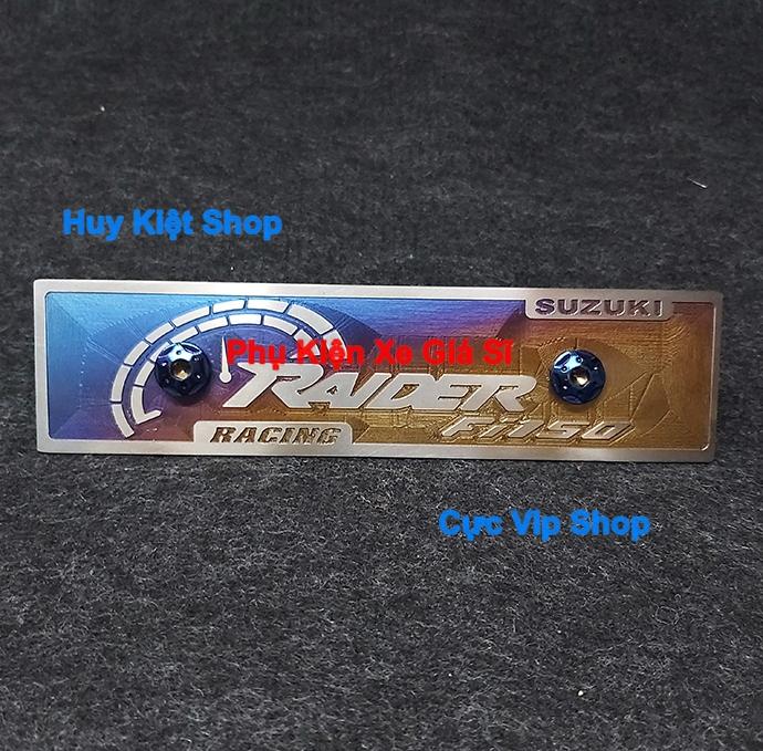 Bảng Tên Raider Titan 3D (Tặng Kèm 2 Ốc Xi Titan, Vàng) MS2450