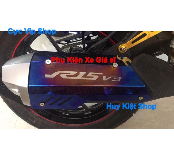 Ốp Pô R15 V3 Inox Xi Titan MS2456