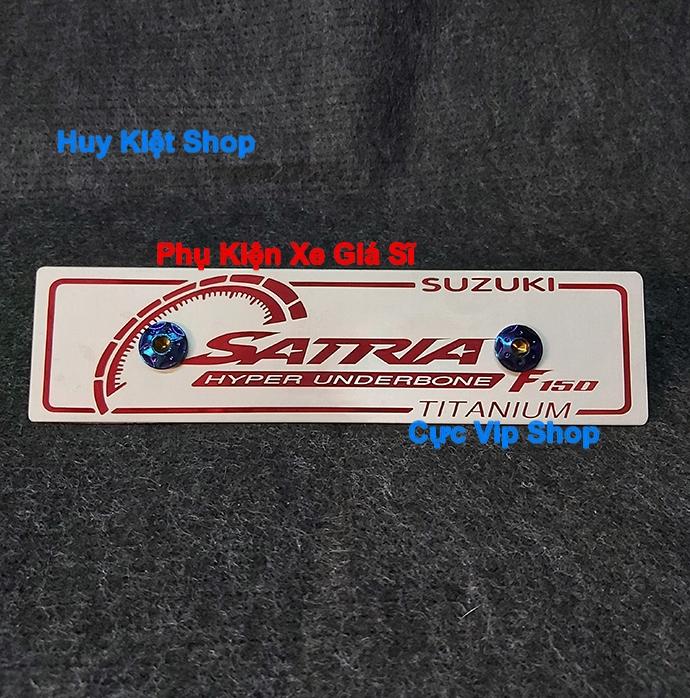 Bảng Tên Satria Nhôm Màu (Tặng Kèm 2 Ốc Xi Titan) MS2461