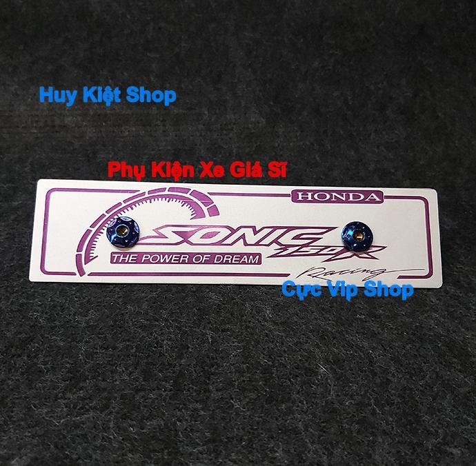 Bảng Tên Sonic Nhôm Màu (Tặng Kèm 2 Ốc Xi Titan) MS2463