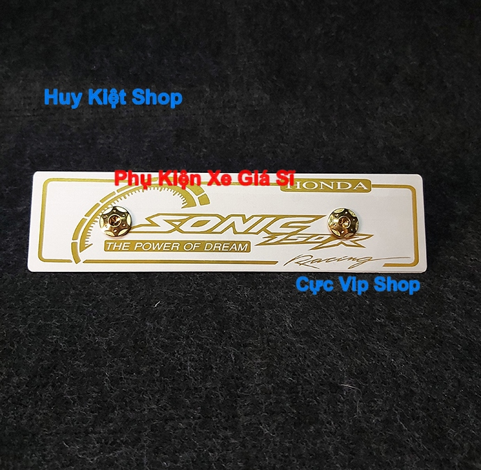 Bảng Tên Sonic Nhôm Màu (Tặng Kèm 2 Ốc Xi Vàng ) MS2463