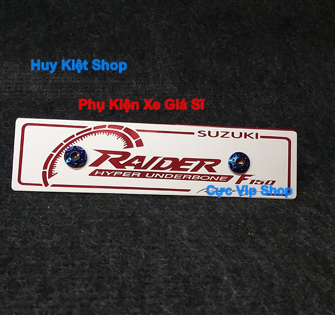 Bảng Tên Raider Nhôm Màu (Tặng Kèm 2 Ốc Xi Titan) MS2465