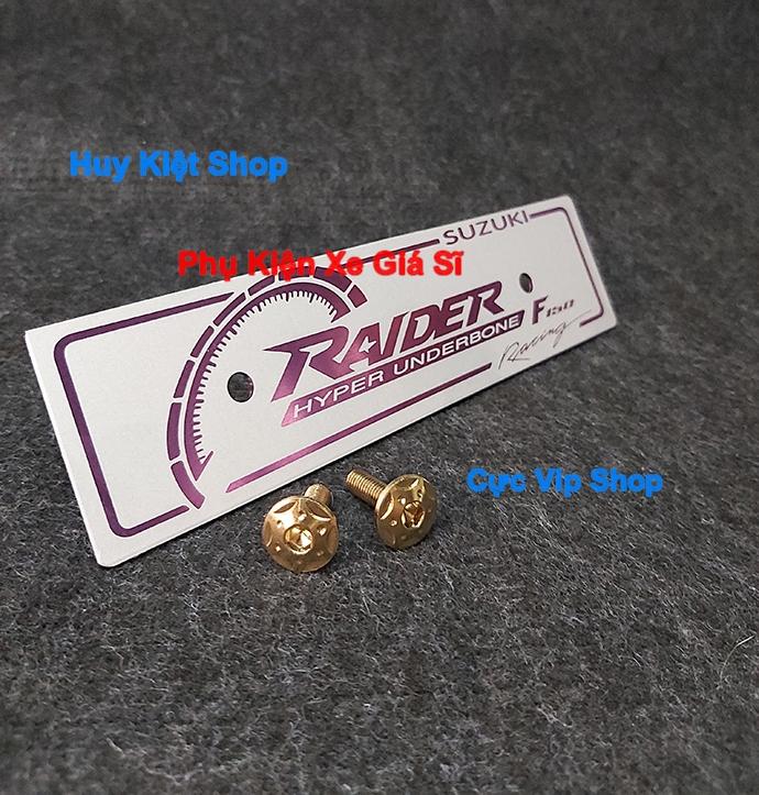 Bảng Tên Raider Nhôm Màu (Tặng Kèm 2 Ốc Xi Titan Vàng) MS2465