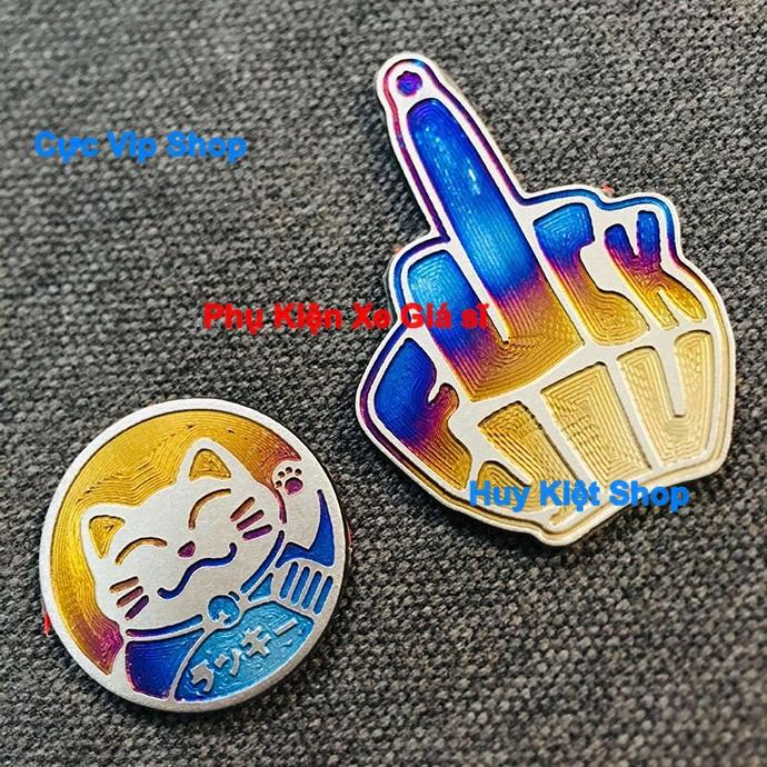 Combo Tem Titan Logo Mèo May Mắn Và Ngón Tay May Mắn MS2475