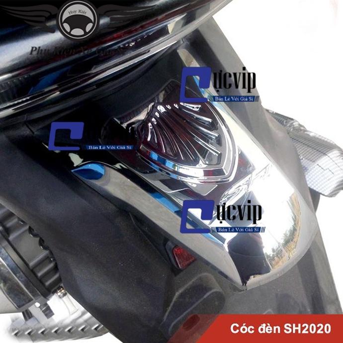 Ốp Cóc Đèn Sau SH 2020 Xi Mạ Crom MS2601