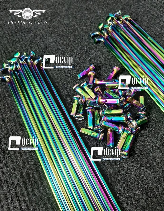 Combo 2 Bộ Căm Titan 7 Màu 1.57 (2 Bánh Đùm) Wave, Dream, Future, Exciter, Winner, Vario 2018 - 2020 MS2985