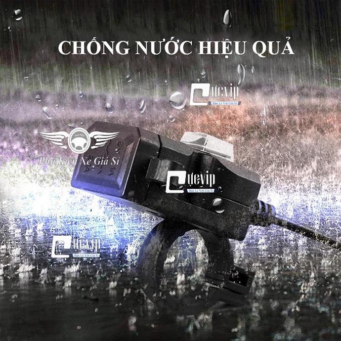 Sạc Điện Thoại Trên Xe Máy 2 Cổng USB, Nắp Chống Nước MS3162
