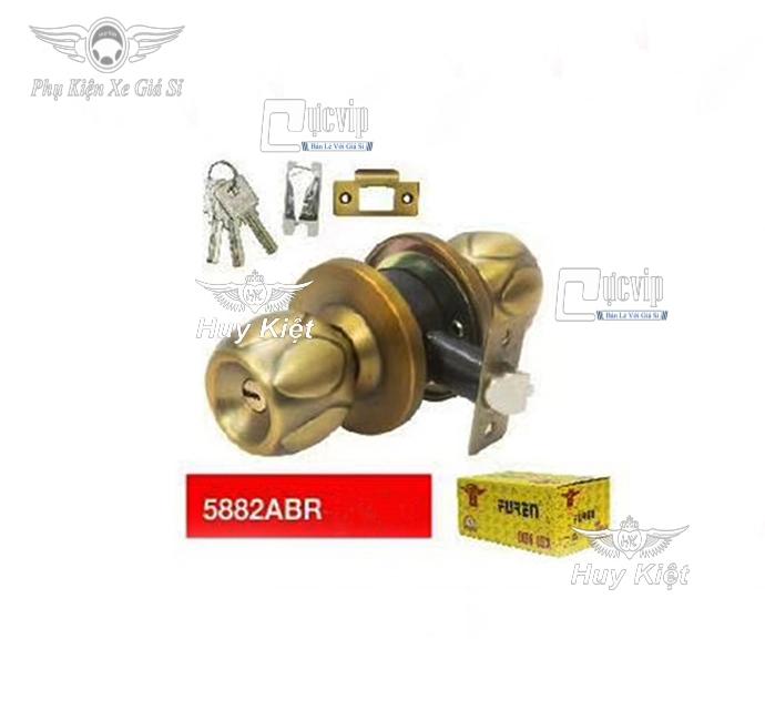 Khóa Cửa Tay Nắm Tròn Cao Cấp Furen 5882ABR MS3204