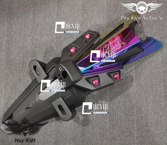Bộ Dè Sau Exciter 150 + Đuôi Đèn Titan 7 Màu + 4 Ốc Kiểu Cao Cấp MS3214