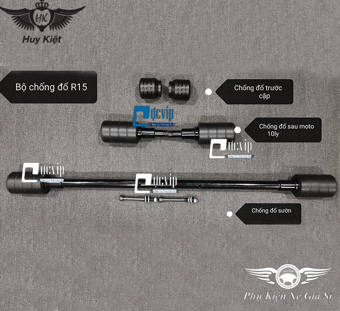 Combo Chống Đổ Sườn + Chống Đổ Trước + Chống Đổ Sau Cho Xe R15 V3, TFX MS3233