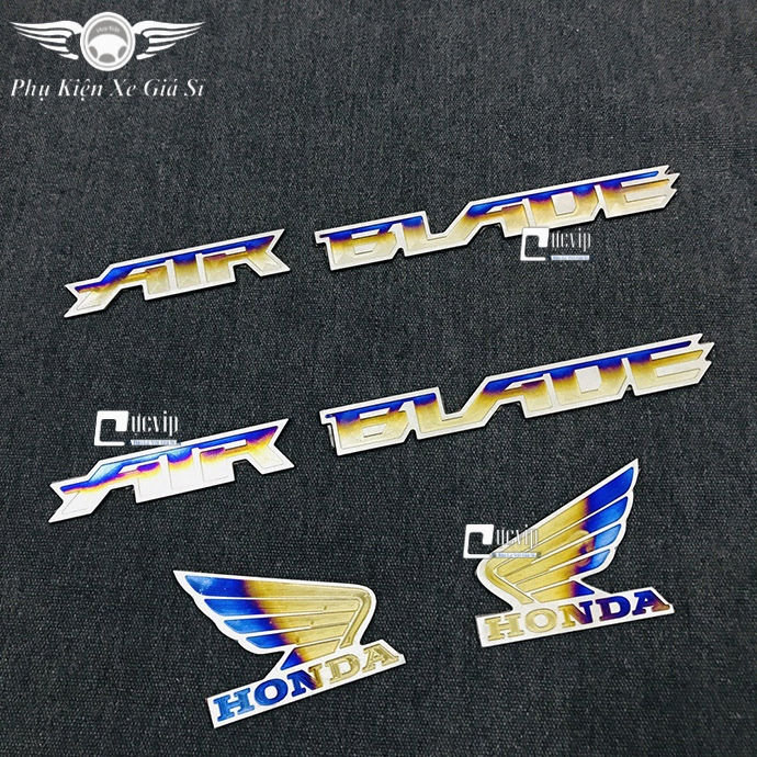Combo 2 Tem Chữ AirBlade Và Logo Cánh Chim Lớn Titan MS3360