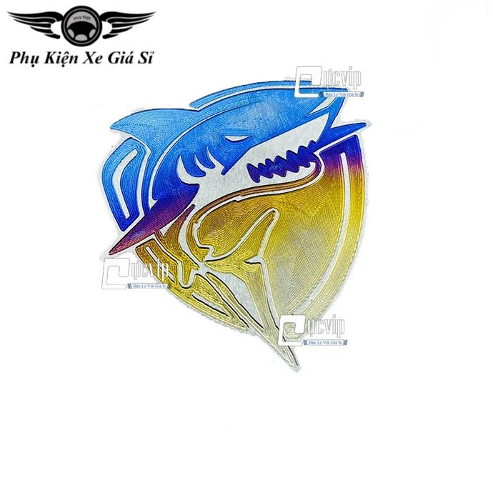 Tem Dán Logo Cá Mập Titan Cao Cấp MS3364