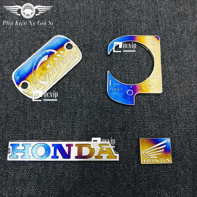 Combo Tem Titan Dán Ổ Khóa, Nắp Dầu, Logo Cánh Chim Nhỏ, Logo Honda Cho Xe Vario, Sonic, Winner X MS3376
