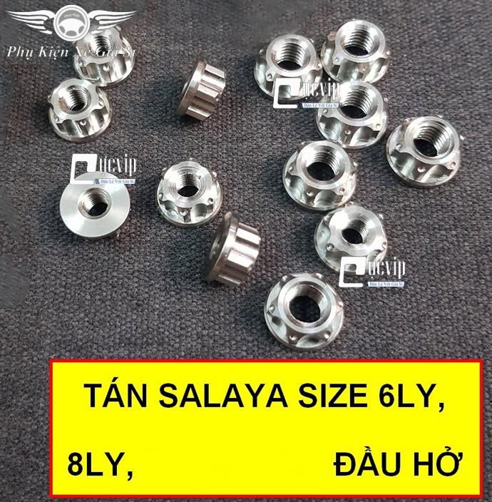 Combo 2 Tán Salaya Đầu Hở Inox 304 (6 Ly, 8 Ly) MS3389