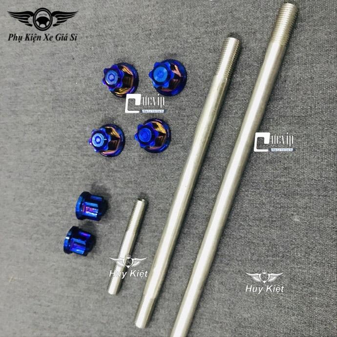 Combo Cốt Trục Bánh Xe Trước Sau Kèm Tán Salaya Titan Và Cốt Phuộc Kèm Tán Salaya Titan Cho Exciter 135 MS3392