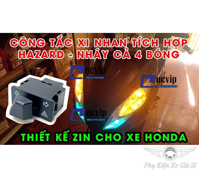 Công Tắc Xi Nhan Tích Hợp Hazard (34mm) Cho Honda Đời 2013 - 2015, Future 125 Fi, Yamaha NVX MS3421
