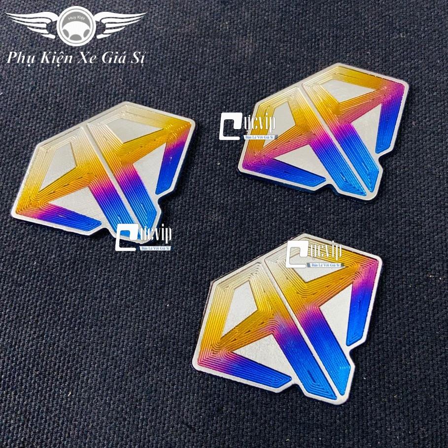Tem Dán Logo AirBlade Titan Cao Cấp Kiểu Kim Cương MS3424