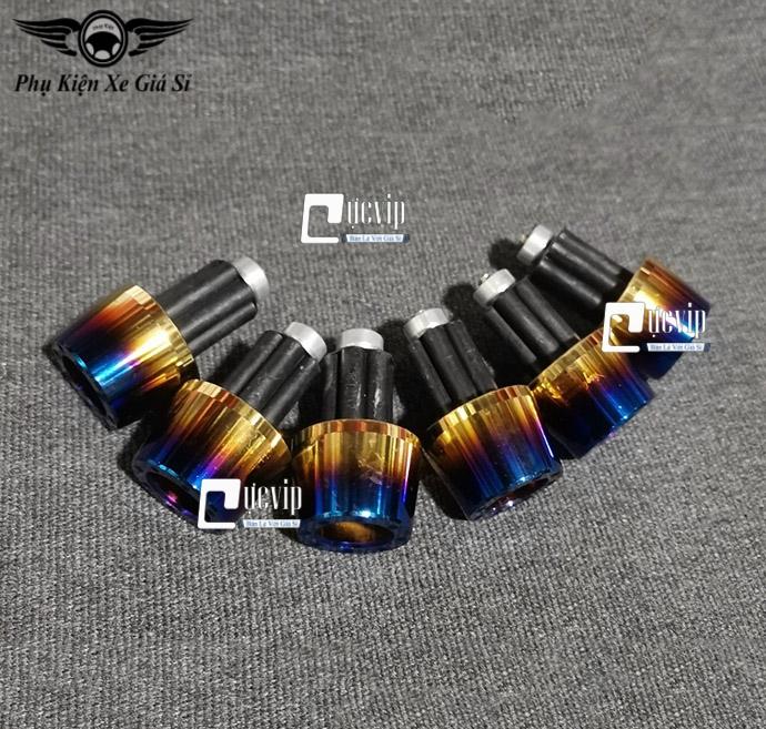 Gù Tay Lái K37 Inox Xi Titan 2 Màu Cao Cấp MS3435