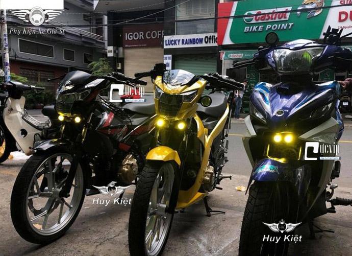 Cặp Đèn Trợ Sáng Bi Cầu Mini 2 Chế Độ Trắng Vàng L2 MS3517