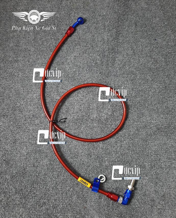 Dây Dầu Thắng Đĩa Trước Nhôm CNC Co Cong Gắn Mọi Loai Xe MS3040