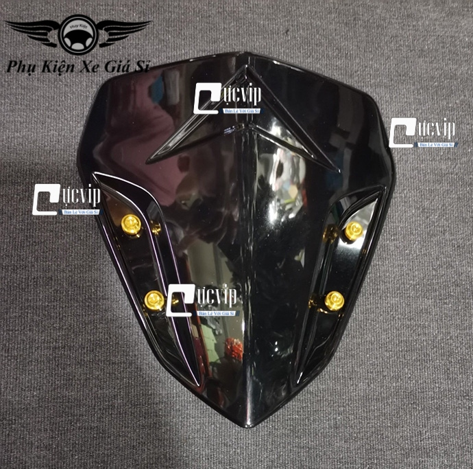 Bộ Ốc Mão Chắn Gió Winner X Nhôm CNC Màu Titan GR5 MS3080