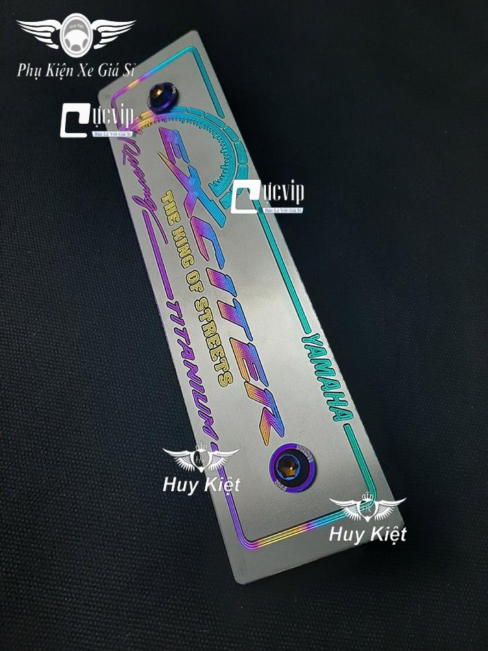 Bảng Tên Exciter Titan (Mẫu Titan Điện Phân) Kèm 2 Ốc ProTi MS3609
