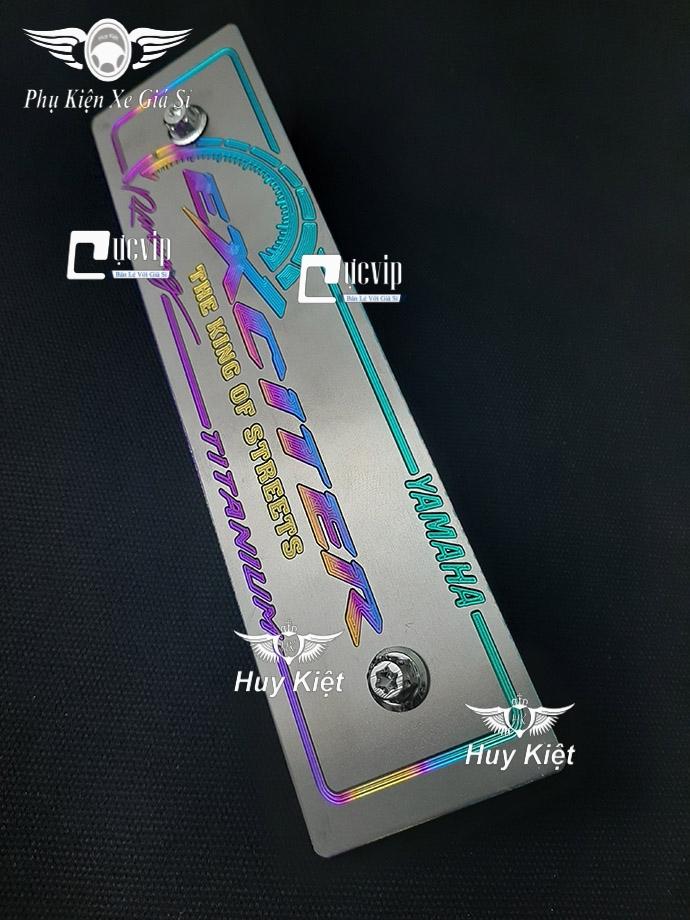 Bảng Tên Exciter Titan (Mẫu Titan Điện Phân) Kèm 2 Ốc salaya MS3610