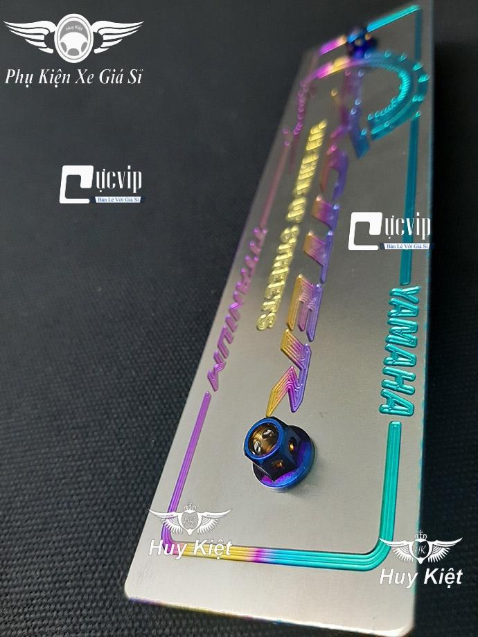 Bảng Tên Exciter Titan (Mẫu Titan Điện Phân) Kèm 2 Ốc Vương Miện MS3612