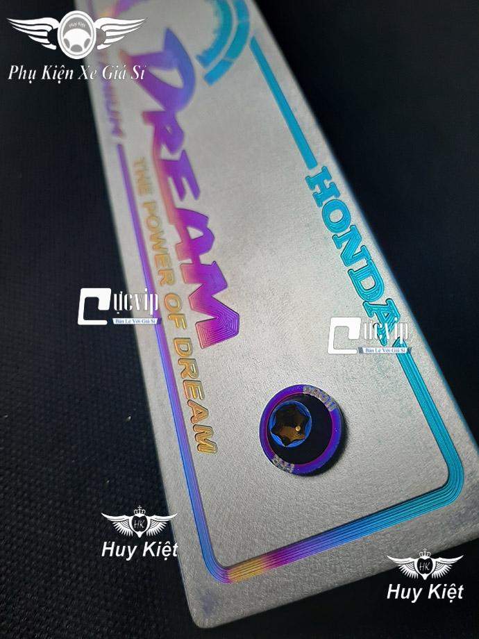 Bảng Tên Dream Titan (Mẫu Titan Điện Phân) Kèm 2 Ốc ProTi MS3656