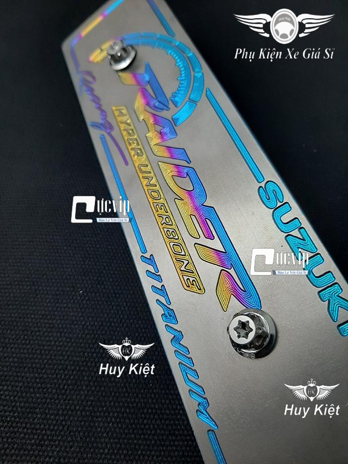 Bảng Tên Raider Titan (Mẫu Titan Điện Phân) Kèm 2 Ốc Salaya MS3665