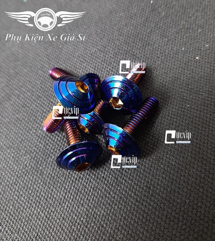 Combo 6 Ốc Đầu Dù Lục Giác 6Ly2 Titan MS3735