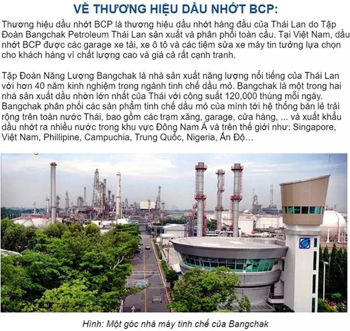 Dầu Nhớt Xe Số BCP 1 lít 15w40 Nhớt Xe Máy NK Thái Lan MS3741