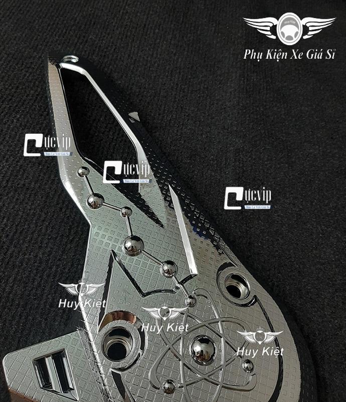 Ốp Lóc Máy Trước Xe Vision 2021 Xi Inox, Mạ Crom MS3767