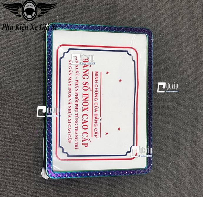 Full Bộ Khung Biển Số Titan 7 Màu Dập Hoa Văn Con Sò MS3967
