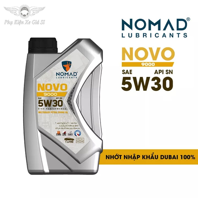 Nhớt Xe Máy Tổng Hợp Toàn Phần Cho Xe Tay Ga NOMAD 1L JASO MB - API SN - SAE 5W30 NK DUBAI MS3746