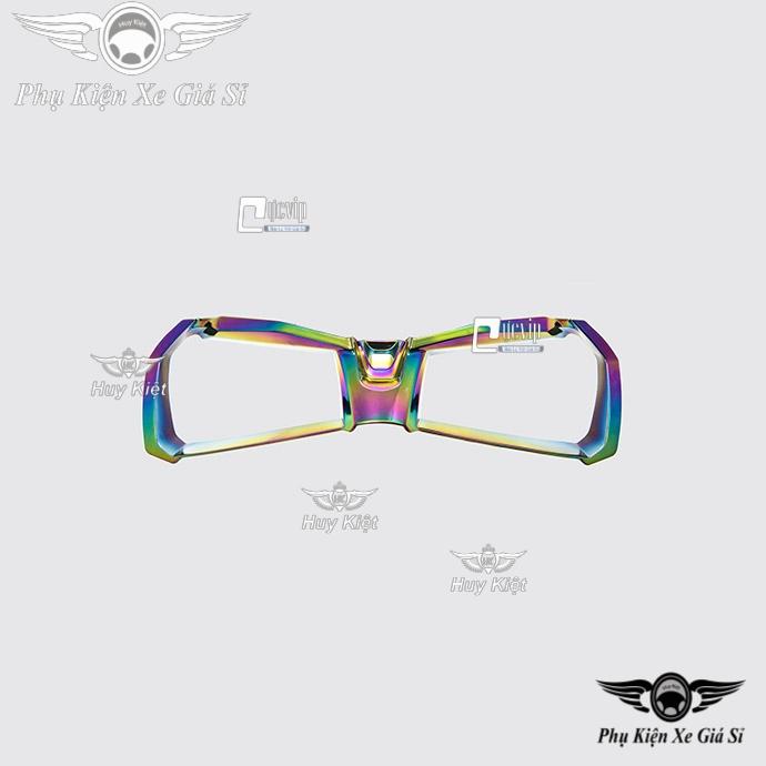 Combo Ốp Viền Đồng Hồ + Viền Đèn Pha Airblade 2020 Titan 7 Màu MS4001